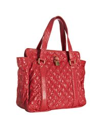Marc Jacobs | Red Coral Quilted Leather Small Leon Tote | Lyst