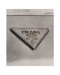 Prada - Gray Grey Faded Calfskin Jeweled Kiss-lock Clutch - Lyst
