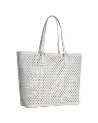 Prada | White Cut-out Shoulder Bag | Lyst