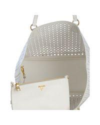 Prada - White Cut-out Shoulder Bag - Lyst