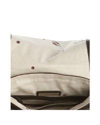 Rough Roses - Brown Glazed Leather Francesca Messenger Bag - Lyst