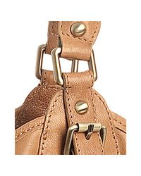 Sorial - Natural Camel Ruched Leather Large Tote - Lyst