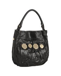 Treesje | Black Shine Leather Dakota Shoulder Bag | Lyst