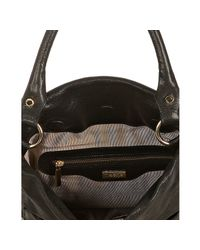 Treesje - Black Shine Leather Dakota Shoulder Bag - Lyst