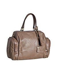 Saint Laurent | Natural Nude Calfskin Vanity Large Bowler Bag | Lyst