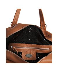 Terez - Brown Clementine Pebble Leather Sunset Park Satchel - Lyst