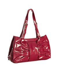 Boutique Moschino | Red Wine Patent Leather Bow Shoulder Bag | Lyst