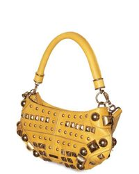 Burberry Prorsum - Yellow Studs Small Top Handle - Lyst