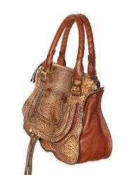 Chloé - Brown Marcie Leather Messenger Bag - Lyst