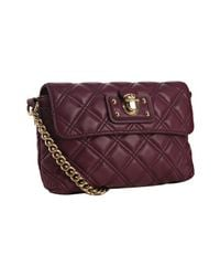 Marc Jacobs | Purple Violet Quilted Lambskin The Single Crossbody Bag | Lyst