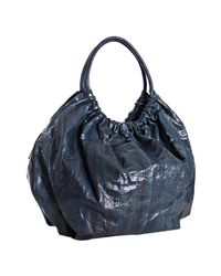 Beirn | Dark Blue Snakeskin Ruthie Shoulder Bag | Lyst
