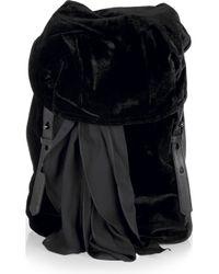 Alexander Wang | Black Sydney Velvet Backpack | Lyst