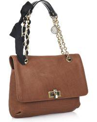 Lanvin - Brown Happy Medium Leather Shoulder Bag - Lyst