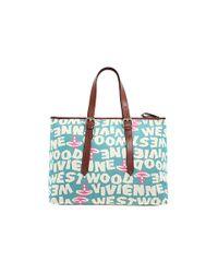 Vivienne Westwood - Blue Stoneage Cloth/leather Bag - Lyst
