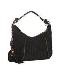 Gucci | Black Techno Horsebit Medium Hobo Bag | Lyst