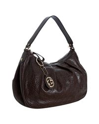 Gucci | Brown Chocolate Ssima Leather Sukey Hobo | Lyst