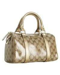 Gucci | Metallic Gold Crystal Gg Joy Small Boston Bag | Lyst