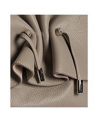 Furla - Natural Stone Leather Adda Large Shoulder Bag - Lyst