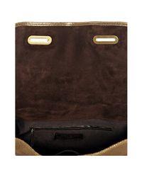 Saint Laurent - Metallic Gold Crackled Leather Besace Messenger Bag - Lyst