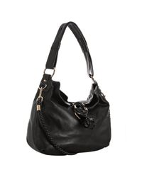 Gucci | Black Pebble Leather G Wave Medium Shoulder Bag | Lyst