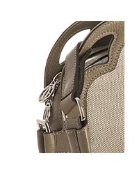 Cartier - Natural Taupe Canvas Leather Detail Marcello Shopping Bag - Lyst