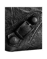 Balenciaga | Black Lambskin Covered Giant Sunday Bag | Lyst