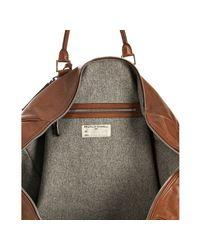 Brunello Cucinelli - Brown Leather Travel Duffel Bag - Lyst
