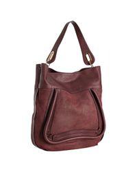 Chloé | Red Garnet Suede Calfskin Paraty Shoulder Bag | Lyst