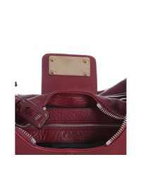 Chloé - Red Garnet Suede Calfskin Paraty Shoulder Bag - Lyst