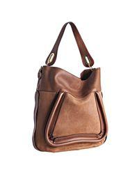 Chloé | Brown Tan Suede Calfskin Paraty Shoulder Bag | Lyst