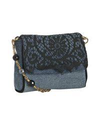 Dolce & Gabbana | Blue Denim Lace Beaded Shoulder Bag | Lyst
