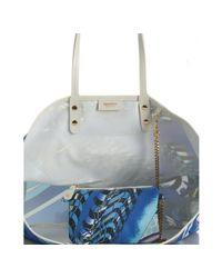 Emilio Pucci - Blue Printed Nylon Calfskin Trim Tote Bag - Lyst