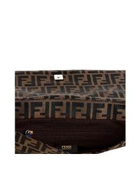 Fendi | Brown Blue Zucca New Forever Flap Shoulder Bag | Lyst
