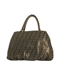 Fendi | Brown Tobacco and Gold Zucca Canvas Chain Tote | Lyst