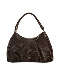 Gucci | Brown Ssima Leather D Gold Medium Hobo | Lyst
