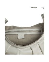 Gucci - White Leather Icon Bit Medium Shoulder Bag - Lyst