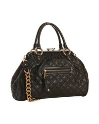 Marc Jacobs | Black Quilted Leather Stam Handbag | Lyst