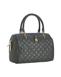Marc Jacobs | Gray Dark Grey Quilted Leather Westside Boston Bag | Lyst