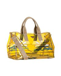 Prada | Yellow Sailboat and Bee Clear Printed Pvc Tote | Lyst