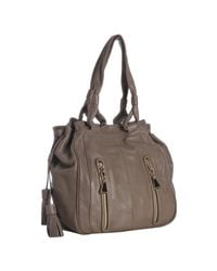 See By Chloé | Brown Taupe Leather Cherry Vertical Zip Handbag | Lyst