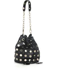 Temperley London | Black Aurora Studded Leather Pouch Bag | Lyst