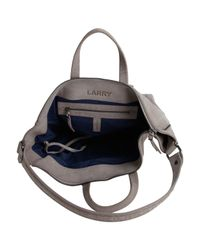 Jérôme Dreyfuss - Gray Larry Mid-grey Cuir Leather Bag with Shoulder Strap - Lyst