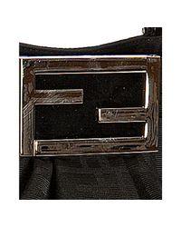 Fendi - Black Zucca Canvas Chain Tote - Lyst
