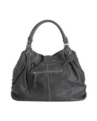 Sorial | Gray Steel Grey Leather Gathered Large Hobo | Lyst