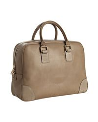 Céline | Brown Taupe Leather Top Handle Large Boston Bag | Lyst