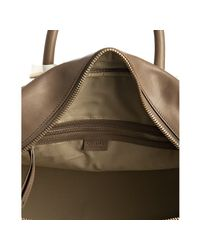 Céline - Brown Taupe Leather Top Handle Large Boston Bag - Lyst