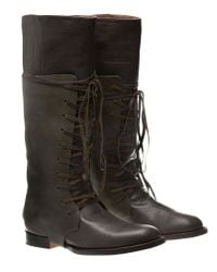 Esquivel - Monica Brown Boots with Green Sleeve - Lyst