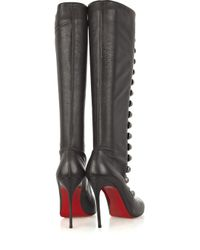 Christian Louboutin | Brown Ronfifi Alta 100 Buttoned Boots | Lyst