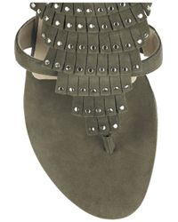 Jimmy Choo   Green Eureka Studded Suede Sandals   Lyst