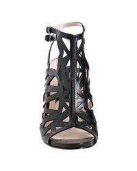 Boutique 9 - Black Cutout Leather Javan Sandals - Lyst